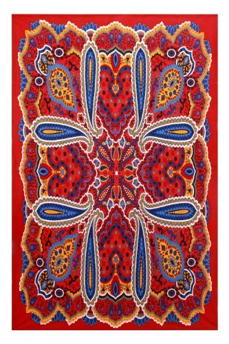 Sunshine Joy Psychedelic Paisley Hippie Tapisserie Beach Tabelle zum Aufhängen Art Wand Magical Decor 152,4x 228,6cm-3D Reactive Artwork -