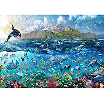 Rainbow Tropical Underwater Ocean Sea Life Wallpaper Mural Giant Wall Decor Part 17