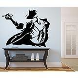 DECOR Kafe Home Decor Michael Jackson Wall Sticker, Wall Sticker for Bedroom, Wall Art, Wall Poster (PVC Vinyl, 60 X 48 cm)