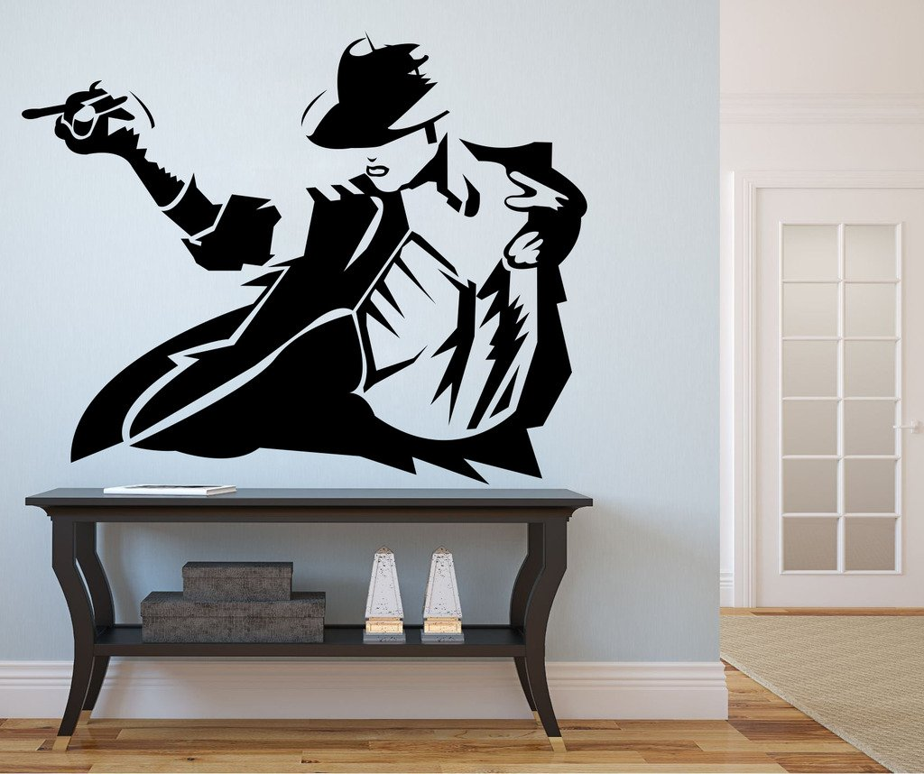 Buy DECOR Kafe Decal Style Michael Jackson Wall Sticker Wall Poster (PVC  Vinyl, 106 X 83 CM) Online At Low Prices In India   Amazon.in Part 35