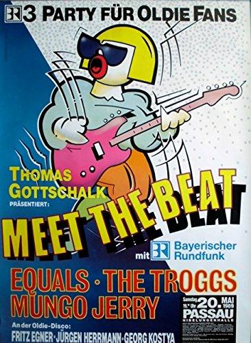 meet-the-beat-1989-poster-de-concierto-equals-troggs-mungo-jerry-poster