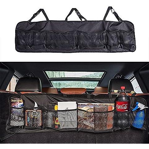 CreaTion® Bagagliaio Sedile posteriore dell'organizzatore di immagazzinaggio, Sedile posteriore multiuso Trasporto Accessori Organizer (Nero)