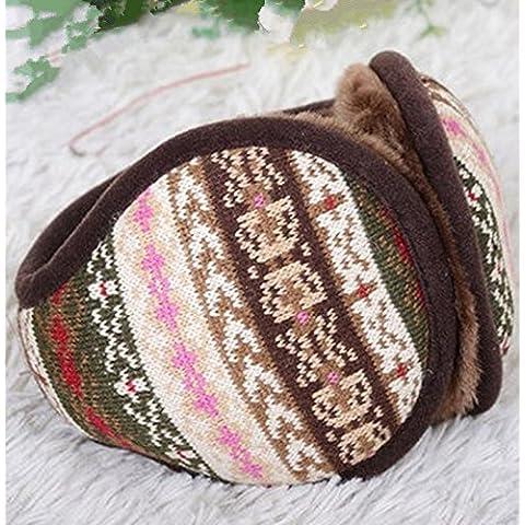 Cálido invierno ear bolsa plegable cubierta er correo earmuff oído parejas paquete de moda masculina más cálido del oído,Leche Lady folding