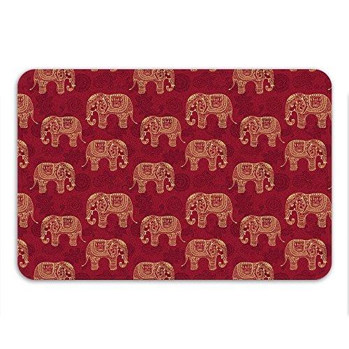 Sharp Shirter Henna Elefantes Alfombrilla de baño de Espuma de Memoria, 86...