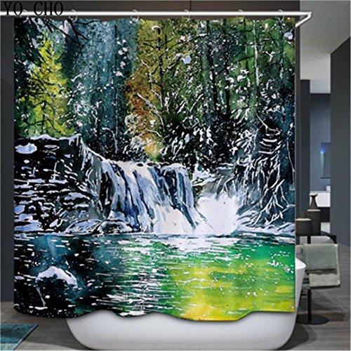 Badezimmer Dusche Badewanne Vorhänge Vorhänge Polyester Wasserdicht