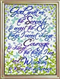Design Works Serenity Prayer Floral -