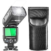 Neewer i-TTL Flash Speedlite con LCD Display, Diffusore Duro & Custodia per Fotocamere DSLR Nikon, come Nikon D7200 D7100 D7000 D5500 D5300 D5200 D5100 D3300 D3200 D3100 D500 D60 D50 (NW-562)