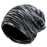 Vbiger Unisex Baggy Beanie Warm Lined Winter Hat Slouchy Knit Skull Cap