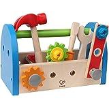 Hape Fix It Wooden Tool Box with Accessories, E3001, Multicolor, E3001