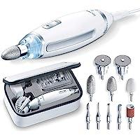 Beurer MP 62 Maniküre-/ Pediküre-Set, elektrische Nagelfeile mit 10 hochwertigen Nagelpflege-Aufsätzen, LED Licht…