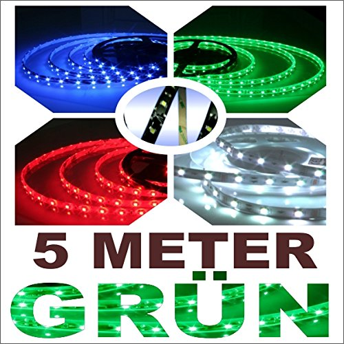 Akhan TL5000G - LED Leiste Streifen Strips 5 METER Grün (Spider Streifen Grünen)