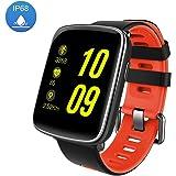 Smartwatch Fitness Armband-Luxsure IP68 Wasserdicht Fitness Tracker Pulsmesser Aktivitätstracker Intelligente Armbanduhr Fitness Sport Uhr Schrittzähler Schlaftracker Kompatibel mit IOS Android Handy