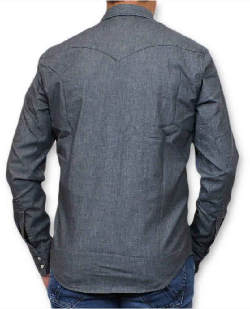 LEVI'S Barstow Western Camisas Hombres Gray/Stretch Camisas Manga Larga