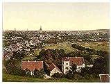 Photo General view Hildesheim Hanover A4 10x8 Poster Print