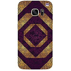 Yellow & Lavender Design - Mobile Back Case Cover For Samsung Galaxy Note 7