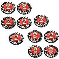 Paquete de 10 Twist nudo Cepillo de alambre / Rueda para amoladora TE242