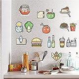 AdornHome Adesivi Murales Murali parete Creativo autoadesivo del frigorifero della cucina autoadesivo libero della tazza del taccuino stanza dei bambini decorazione autoadesiva sveglia 35 * 40CM