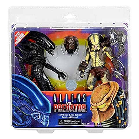 Alien Vs. Predator - Pack 2 figurines Renegade Predator vs. Big Chap 18 cm