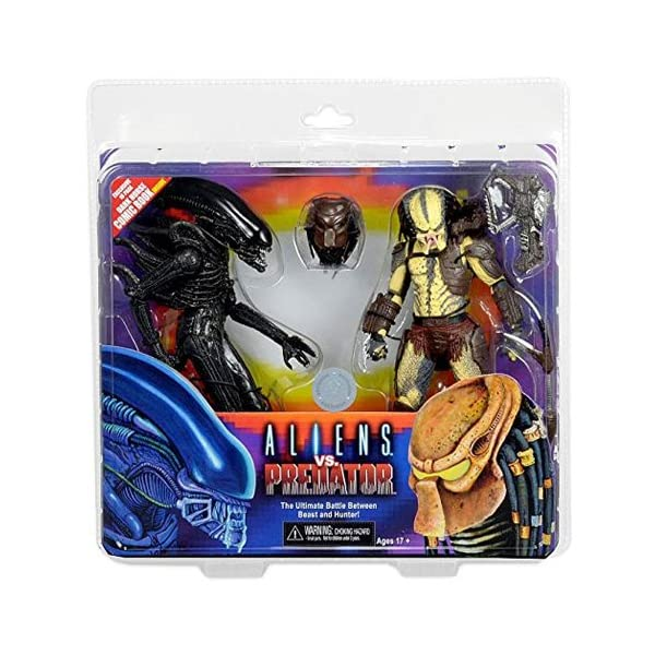 NECA - Figurine Alien vs Predator - Pack 2 Figurines + Mini Comic Dark Horse Exclu 18cm - 0634482513842 1