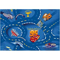 Associated Weavers Kids Corner RWOCAGA77095133T06 Tapis de sol Disney Cars Bleu 95 x 133 cm