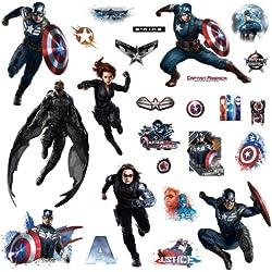 25 pegatinas de Capitán América