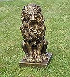 Sitzender Löwe gold 57x27x38cm,Statue,Skulptur,Deko