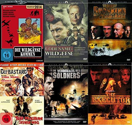 7er Kriegsfilme Kultfilm DVD Collection - Die Wildgänse kommen + Geheimcode Wildgänse + Die Rückkehr der Wildgänse + Der Bastar