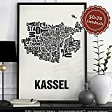 Kassel Buchstabenort Schwarz auf Naturweiß
