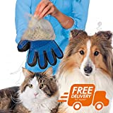 #1: 2-in-1 Pet Glove: Grooming Tool + Furniture Pet Hair Remover Mitt - For Cat & Dog - Long & Short Fur - Gentle Deshedding Brush - Rubber Tips for Massage - Soft Groomer Mitt - Your Pet Will Love-1 Piece Color May Vary