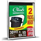 Sanita Club Garbage Bags 55 Gallons X - Large - Pack of 2 Pcs (2 x 15 Bags)