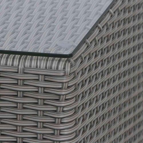 Siena Garden Lisboa–Mesa auxiliar, plástico, blanco/gris, 49x 49x 45,5cm