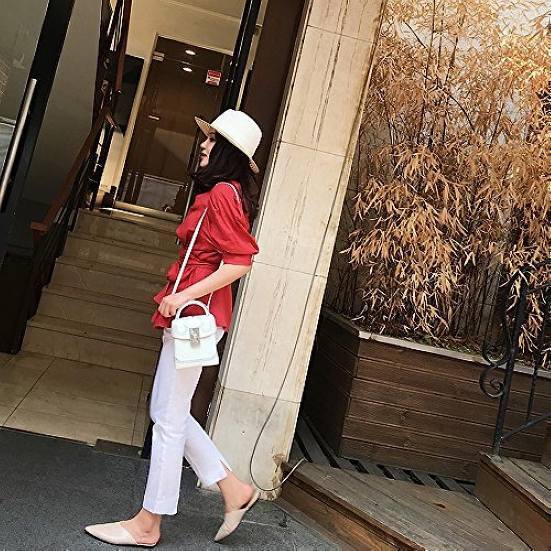 DHG Scarpe a punta piatte Muler Muler Muler senza tacco Baotou mezza rete rossa mezza estate femminile,caffè,40 | Qualità E Quantità Garantita  8fc325