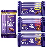 #7: Cadbury Dairy Milk , Pack of 12 (Maha Pack, 3x52g ,Fruit and Nut, 3x36g, Crackle, 3x36g,  Roasted Almond, 3x36g)