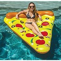 Inflatable Pizza Pool Float Piscina Al Aire Libre Party Giant Pizza Fila Flotante PVC Swimming Ring Flotador De Agua Pizza Water Colchón De Aire Slice Pool Float