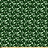 ABAKUHAUS Blätter Stoff als Meterware, Laub Muster mit