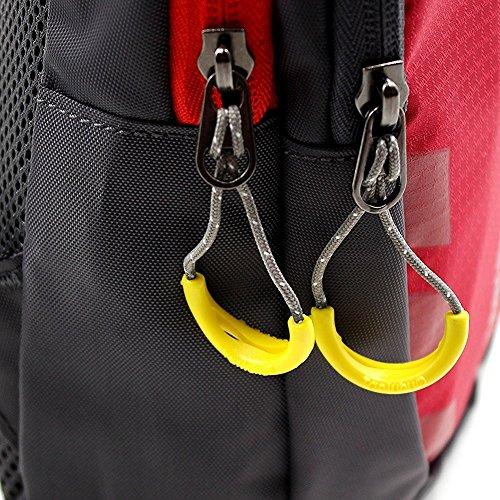 Tanchen Sling borsa impermeabile sport petto in palestra marsupio zaino a spalla tracolla, borsa a tracolla, Uomo unisex, Black Red