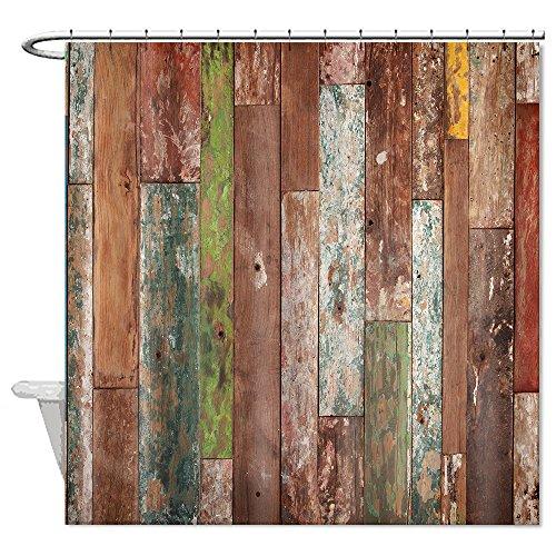Vorhang für die Dusche Rustikal Old Colorful Barn Badezimmer Wasserdicht 182,9x 182,9cm (Rustikale Duschen)