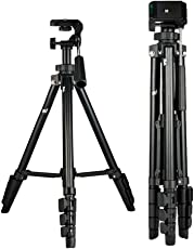 """SMILEDRIVE® Professional Portable DSLR Tripod- 56"""" Max Height Camera/Mobile Stand for Canon, Nikon, Smart Phones & Action Cameras"""