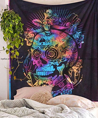 Kopf Gedruckt Tapisserie Wandteppichen, Mandala Wandteppiche, Bohemian Wandteppiche, Wand, Schlafsaal, Decor Queen Bett Bettwäsche ()