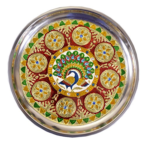 Maitri Creation handicraft handmade pooja thali  available at amazon for Rs.349