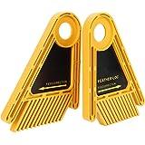 Bordo a doppia piuma per la lavorazione del legno Bordo in piuma gialla in plastica Set di fogli in plastica per fessura con