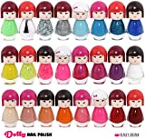 24 or 48 DOLL SHAPED NAIL POLISH VARNISH SET MANY DIFFERENT COLOURS THE BEST GIFT