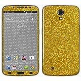 atFolix Samsung Galaxy Mega 6.3 (GT-i9205) Skin FX-Glitter-Gold-Rush Designfolie Sticker - Reflektierende Glitzerfolie