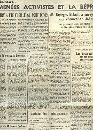 1 EXTRAIT D'UNE COUPURE DE PRESSE DE