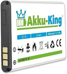 Akku King Akku Kompatibel Mit Nokia Bl 4c Li Ion Elektronik