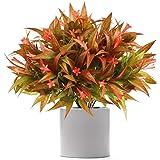 JUN-H 4 Paquetes de Plantas Artificiales Arbustos Falsos Morning Glory Flores Arbustos de Plástico Cestas de Flores Colgantes