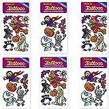 6-teiliges Tattoo-Set * Halloween * vom Mauder-Verlag | Kinder Kindertattoo Kindergeburtstag Geburtstag Mitgebsel Hexe Kürbis Geist Fledermaus
