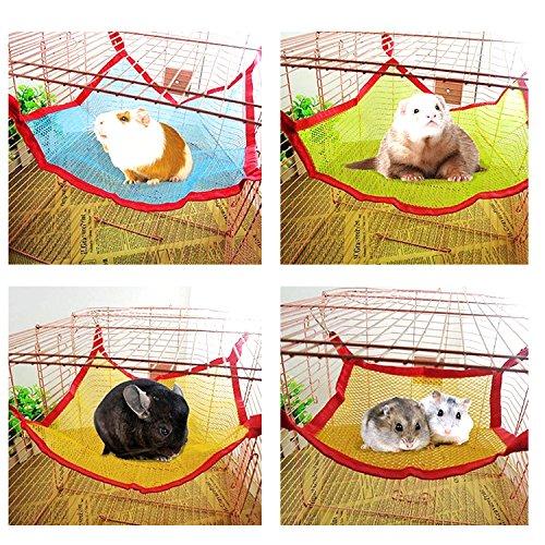 Gosear® Lit Hamac Summer Pet pour Hamster Écureuil Chinchilla Chaton Mesh Respirant Tissu Hamac 12 X 16 Cm Couleur Aléatoire