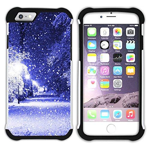 Graphic4You Schnee Schneeflocke Winter Muster Hart + Weiche Kratzfeste Hülle Case Schale Tasche Schutzhülle für Apple iPhone 6 / 6S Design #14