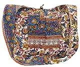 Guru-Shop Sadhu Bag, Umhängetasche, Blockdruck Hippie Schultertasche - Blau/Blumenmuster, Herren/Damen, Baumwolle, Size:One Size, Bunter Stoffbeutel